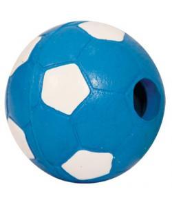"""""""Мяч футбольный с погремушкой"""" для собак, резина, 6,5 см"""