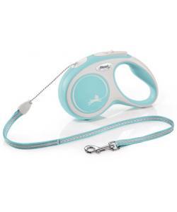 Рулетка-трос для собак до 12кг, 5м, голубая (New Comfort S Cord 5m light blue)