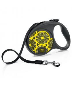 Поводок-рулетка Flexi Joy Lemon для собак M 5м до 25кг, лента