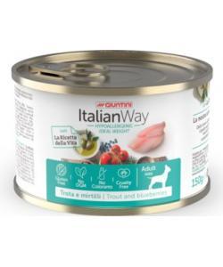 Облегченные консервы для собак с форелью и черникой (ITALIAN WAY WET IDEAL WEIGHT TROUT/BLUEBERRY)