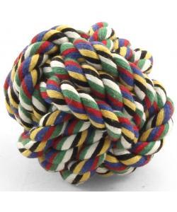 """Игрушка для собак. Верёвка цветная """"Мяч"""" 5 см  (300CQ)"""
