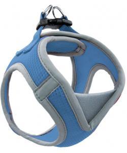 Мягкая шлейка-жилетка, синяя, обхват груди 41-46 см (HL030M)