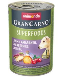 Консервы для взрослых собак c ягненком + амарант, клюква, лососевое масло (Gran Carno Superfoods)
