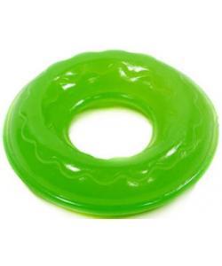 Игрушка для собак Кольцо Мини, резина, 6,9 см, зеленое
