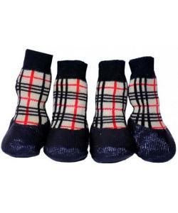 Носки для собак с латексным покрытием S, 4 шт.