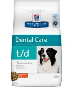 T/D для собак поддержание здоровья ротовой полости t/d Dental Care