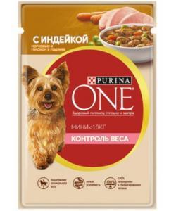 """Паучи для взрослых собак малых пород  с индейкой и морковью в подливе """"Контроль веса"""""""