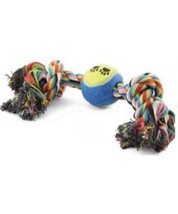"""Верёвка цветная """"Два узла"""" с мячом 20 см (0073XJ)"""
