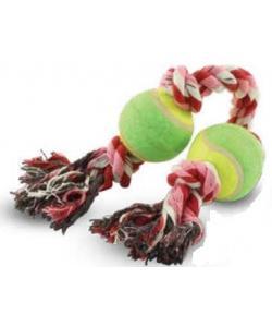 """Верёвка цветная """"Четыре узла"""" с двумя мячами 32 см (0067XJ)"""