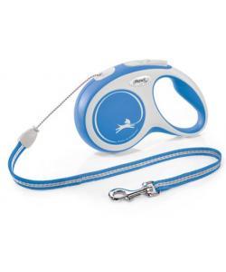 Рулетка-трос для собак до 12кг, 8м, синяя (New Comfort S Cord 8m blue)