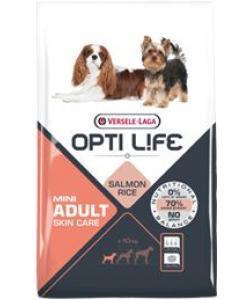 Для собак малых пород с чувствительной кожей, с лососем и рисом, Adult Skin Care Mini