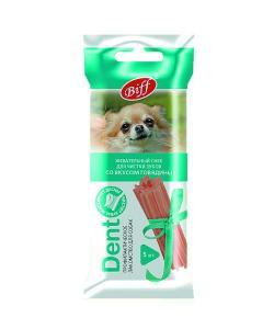 Жевательный снек для собак DENT со вкусом говядины, 5шт (для мелких пород)