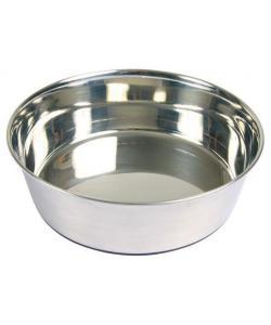 Миска металлическая с резиновым дном (25071)