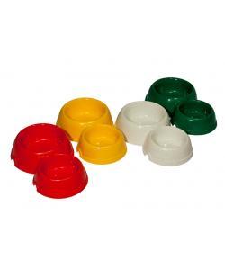 Двойная круглая миска для собак пластиковая, 200 и 350мл