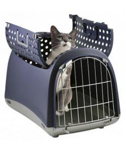 """Переноска для животных """"Linus Cabrio"""" 50*32*34,5 см синяя + дверца сверху (80594)"""