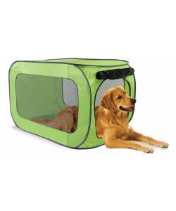 Переносной домик для собак крупных пород 91 x 55 x 55 см, полиэстер (Portable dog kennel large) PL0015