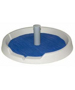 Туалет со столбиком для собак мелких пород (круг) D50см