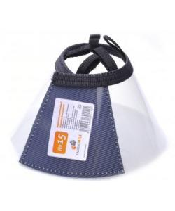 Воротник пластиковый защитный на липучке №15, 35-41см