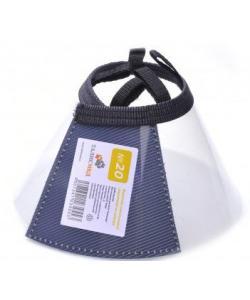 Воротник пластиковый защитный на липучке №20,  42-48см